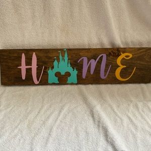 Other - Disney Inspired Wooden Farmhouse Decor Sign